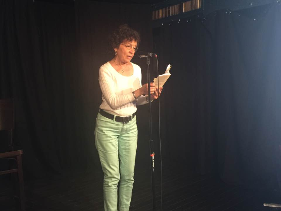 Carole reads at Amazons of the Mediterranean, Black Swan Tavern, Toronto. (June 2016)