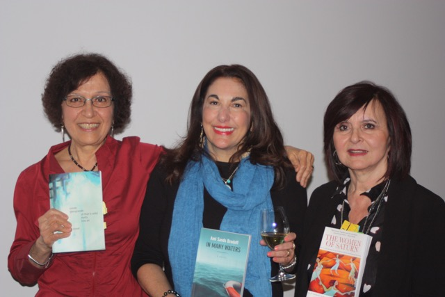 Carole (with authors Ami Sands Brodoff and Connie Guzzo-McParland) at Montreal launch of All That is Solid Melts into Air (30 April 2017).
