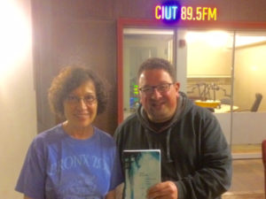 Carole with Valentine Assenza, Host of HOWL, on CIUT-FM, Toronto (30 May 2017)
